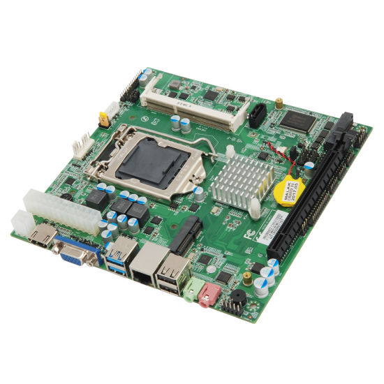 H81 Mini Industrial Motherboard Support I3 / I5 / I7 LG1150 CPU 17X17 Computer Motherboard