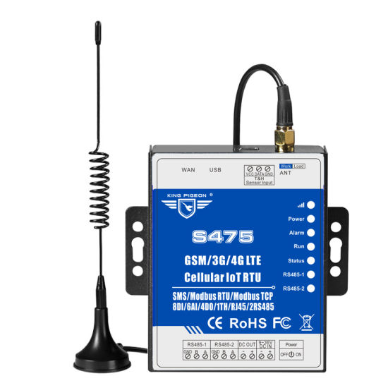 GSM 3G 4G Lte Cellular Iot RTU S475 (8DIN, 6AIN/PT100, 4Relay, 1TH, USB, 2 RS485, 320 Extend I/O tags) pictures & photos