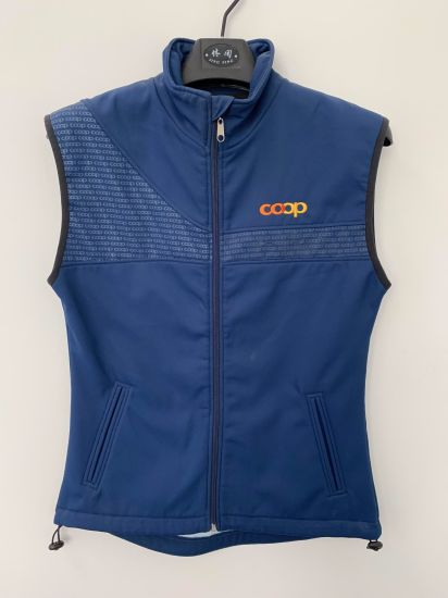 Sports Men's and Women's Stretch Softshell Gilet/Vest/Jacket with Printing