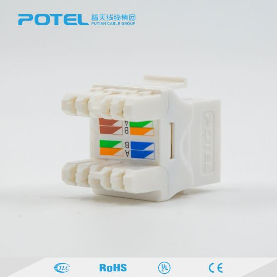 RJ45 Connector Cat5e Cable UTP Crystal Module pictures & photos