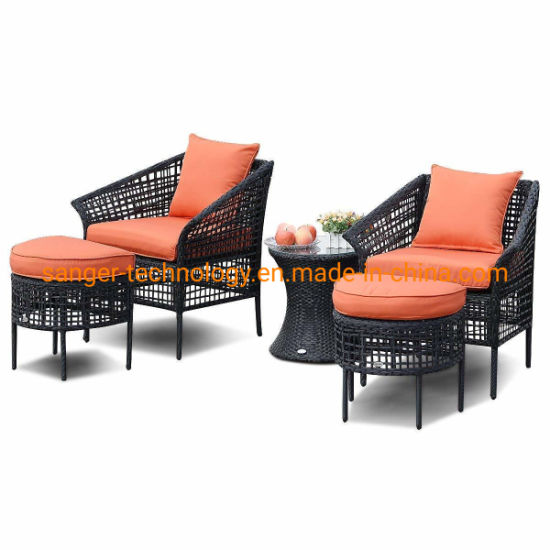 Awesome China 5Pcs Patio Rattan Sofa Ottoman Furniture Set Outdoor Uwap Interior Chair Design Uwaporg