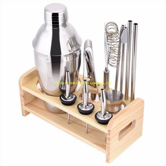 Stainless Steel Set Bartender Kit Tools Cocktail Shaker