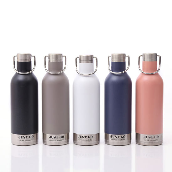 500ml Mouth Lid Double Wall Leak Sport Flask Mug Stainless Steel Vacuum Insulated Water Bottle