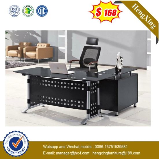 New Design L Shape Lab Hotel Executive Tempered Glass Modern Standing Desk pictures & photos
