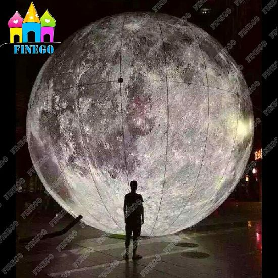 China Finego Giant Air Lighting Moon Balloon Ball Inflatable LED ...