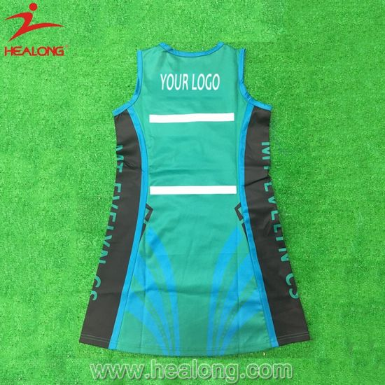 Healong Sportswear Sublimated Teamwear Netball Skirt Dress pictures & photos
