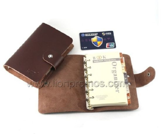 Personalized Logo Embossed PU Cover Pocket Loose Leaf Note Pad