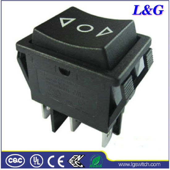 20A 6 Pins (ON) -off- (ON) Power Reset Rocker Switch