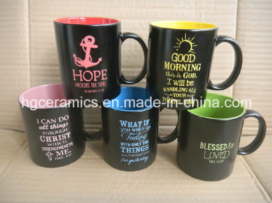 China Spray Color Mug Ceramic Mug With Paint Spray Spray Mug With