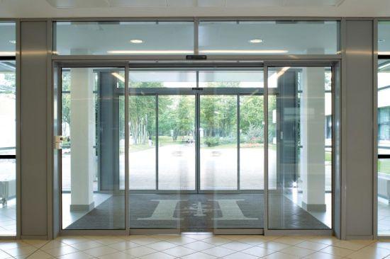 China Dc24v 6years Warranty Automatic Sensor Glass Sliding Door
