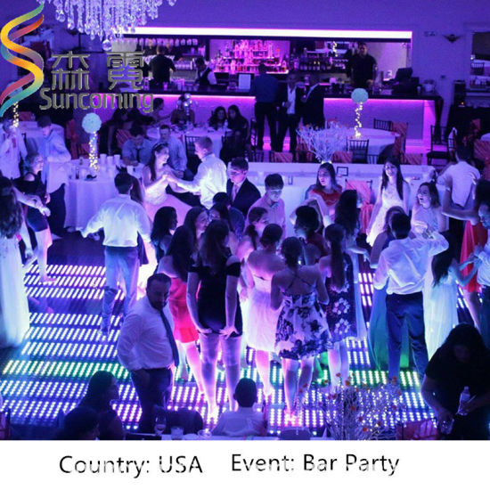 China Super Slim Wedding Disco Party Portable P LED Dance Floor - Led dance floor for sale usa
