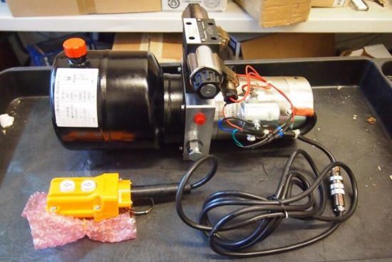 8L 12V Electric Motor Hydraulic Power Unit Single-Acting Lift