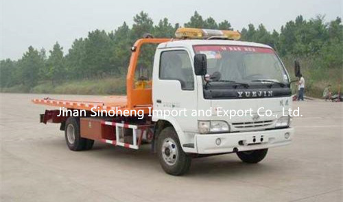 Yuejin 113HP Flatbed Tow Truck 4X2 for Factory Price