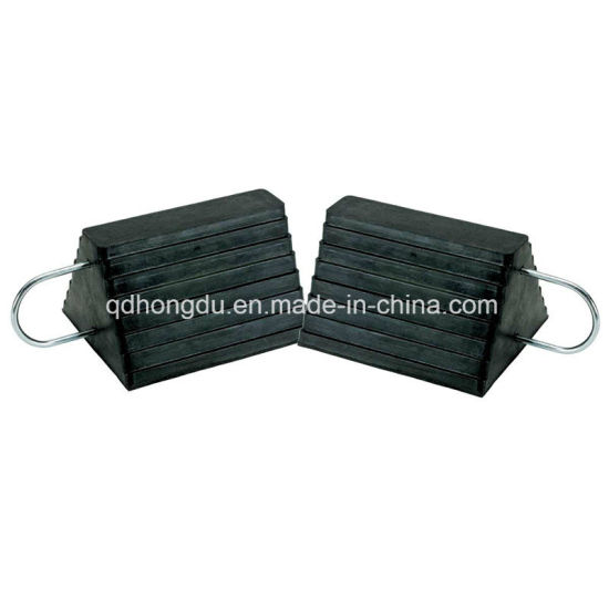 High Density Car-Sliding Avoid Rubber Wheel Chock pictures & photos