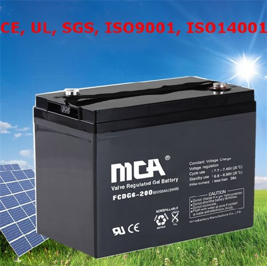 AGM Battery Solar Battery Storage Battery VRLA Battery 6V200ah