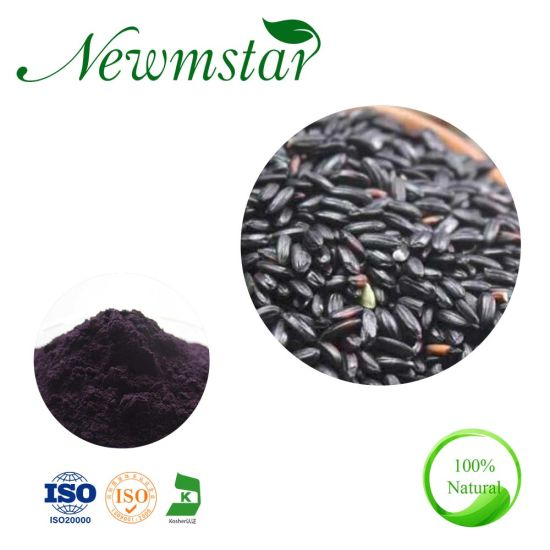 Black Rice Protein Pure Natural Purple Anthocyanin Black Rice Extract pictures & photos