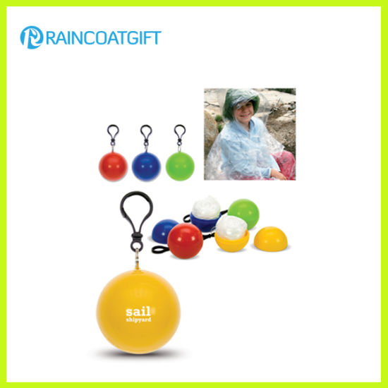 PE Disposable Raincoat Ball Rpe-008A pictures & photos
