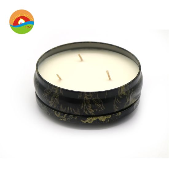 OEM Soy Wax Scented Candle 3- Wicks Tin Candle pictures & photos
