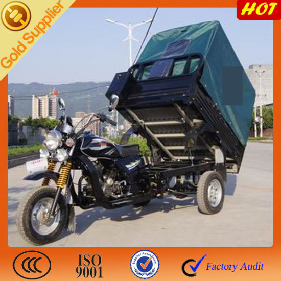 China Gasoline Cargo Passenger Three Wheel Motorcycle with Closed Box pictures & photos