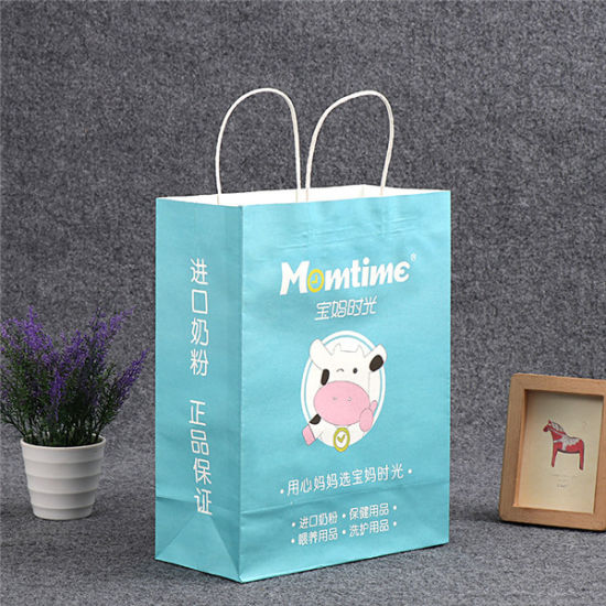 Luxury Custom Made Kraft Paper Shopping Bag