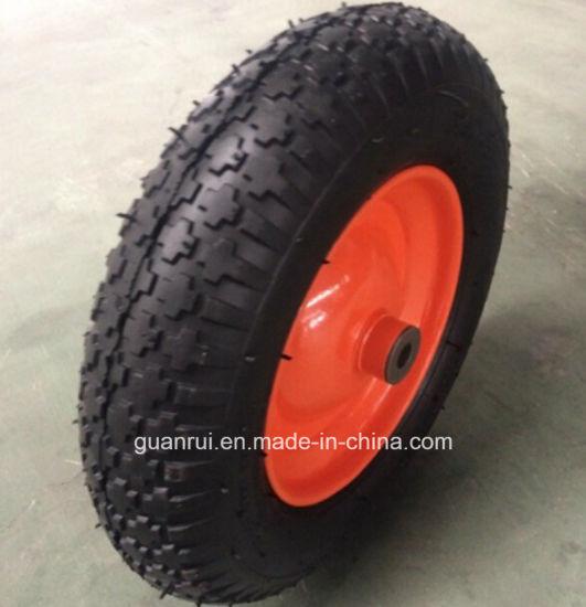3.50-8 Wheelbarrow Pneumatic Rubber Wheel for Sale