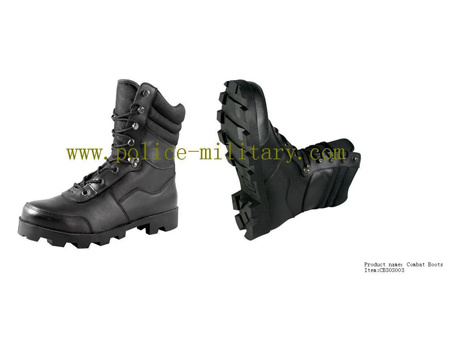 Military Tactical Combat Boots Black Leather Shoes CB303003