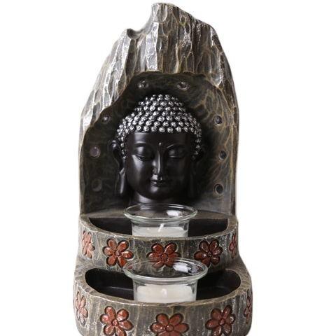 2020 Wholesale Tabletop Inner Heart Peaceful Buddha Resin Thai Buddha Statue