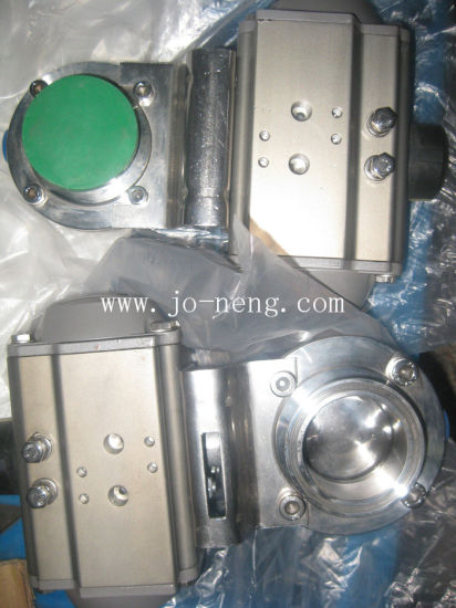 Stainless Steel Food Processing Pneumatic Welded Butterfly Valve (JN-BV2003) pictures & photos