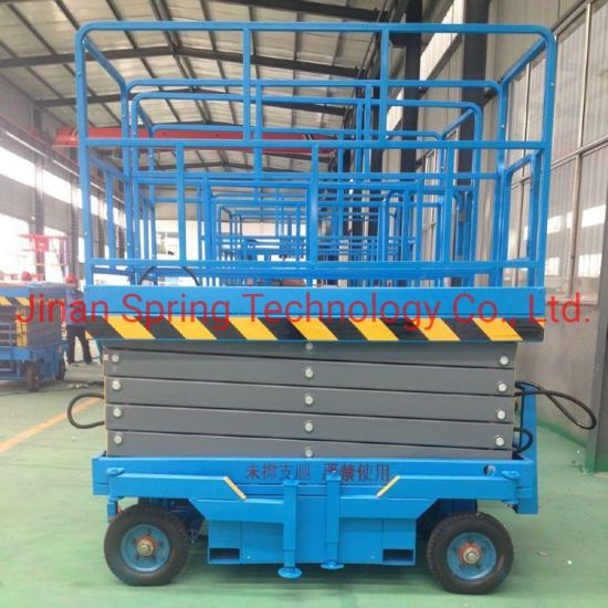 Manufacture Direct Sales Hydraulic Movable Scissor Wrok Lift Platform with Good Quality