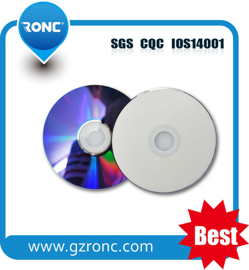 Full Face Inkjet Printable DVD R 47GB 8X For Record Games