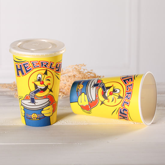 Custom Printed Paper Cup Disposable Cold Drink Cup  with Lids 12/ 16oz pictures & photos