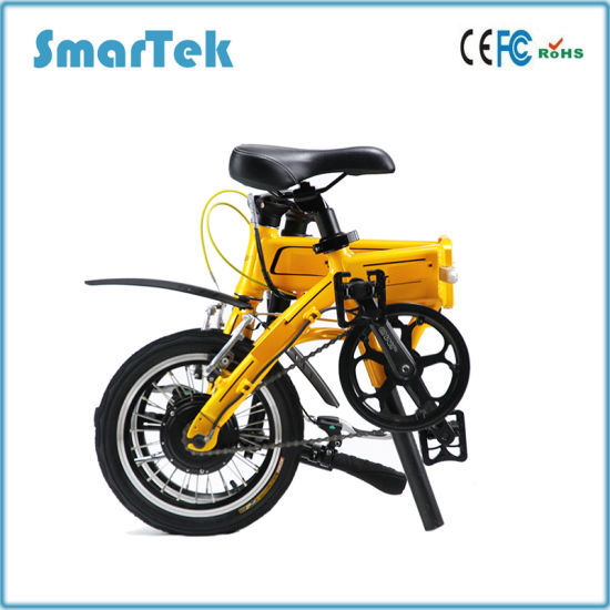 Smartek 14inch Electric PAS Bicycle Fashion Folding Mobility 14inch Electric PAS Ebike with PAS Function pictures & photos