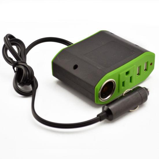 Car 12v Dc Inverter Withr Usb Port Ac Outlet Plug Cigarette Lighter