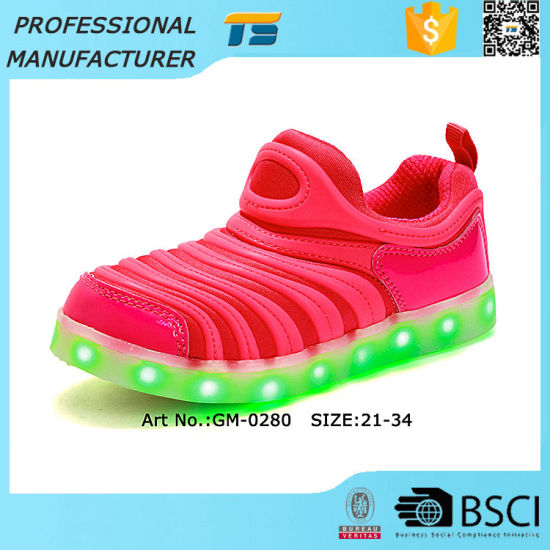 7086f5ac7 China LED Kids Flashing Lights Shoes USB Charger with Lights - China ...