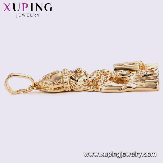 32703 Fashion Charm Cubic Zirconia Cross Imitation Jewelry Chain Pendant in Alloy Copper pictures & photos