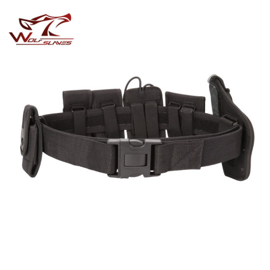 Airsoft Military Tactical Belt Security Police Belt with Holster