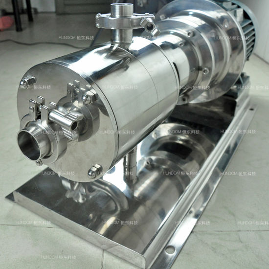 Sanitary High Shear Homogenizer Pipelined Emulsion Pump pictures & photos