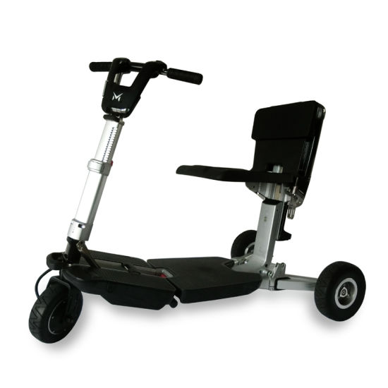 Wholesale Intelligent Whole Aluminium Structure Electric Folding Mobility Tricycle for Women and Child