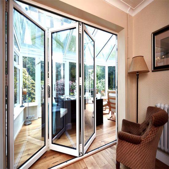 China Extrusion Exterior Tempered Glass Aluminium Bifold Door ...