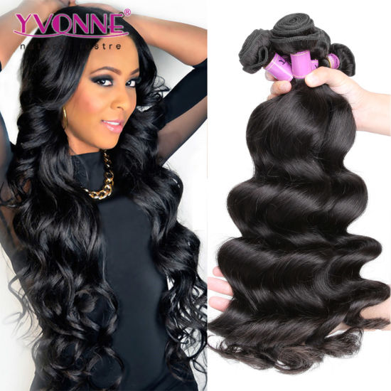 Yvonne Best Selling Virgin Brazilian Loose Wave Human Hair for Black Women a0a7dcb41a