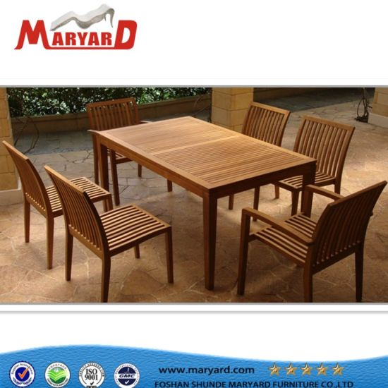 Garden Teak Wood Table Furniture for Outdoor Leisure and Teak Wooden Sofa  Sets