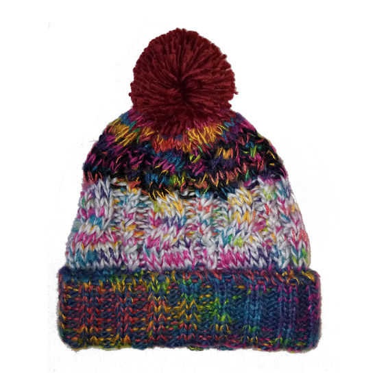 Lady Winter Warm Fashion Multi Colour Cable Bobble Hat pictures & photos