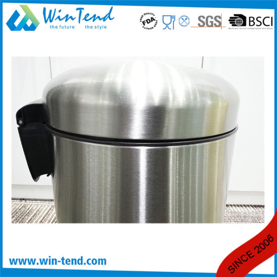 Stainless Steel Slow Down Pedal Dustbin pictures & photos