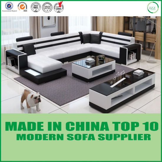Home Furniture Living Room U Shape Leather Sofa pictures & photos