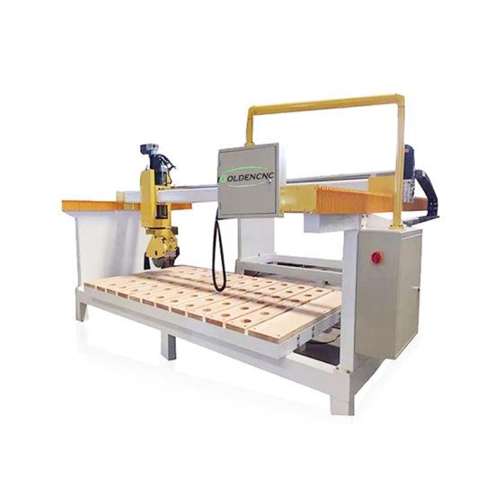 Igoldencnc Stone Block Industry Marble Bridge Cutting Machine/Granite CNC 4 5 Axis Stone Cut Bridge Saw Cut 3020 CNC Machine for Kitchen Countertops