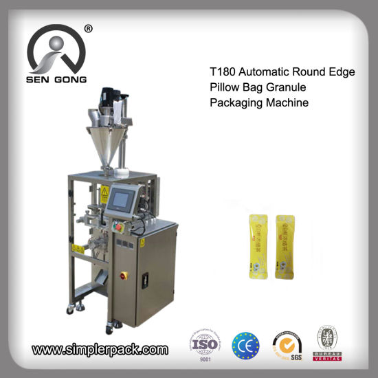 Wholesale Automatic Round Edge Flat Bag Granules Filling Cutting Packaging Machine