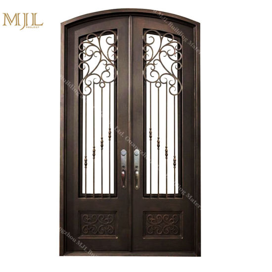 China Front Door Design Used Exterior French Wrought Iron Entry Door