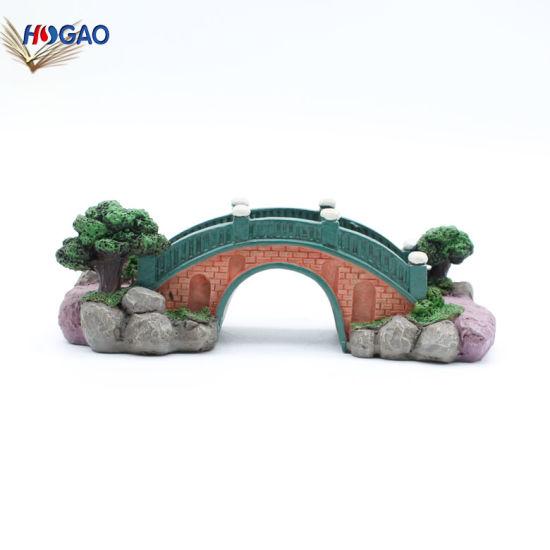 2019 Creative Decoration Craft Resin Chinese Style Bridge Model