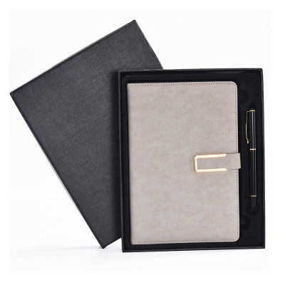 Pen and Business Leather Notebook Gift Set