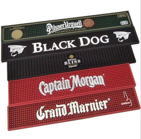 Promotional Gift PVC Bar Mat with Customized Logo pictures & photos